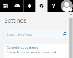 illustration of where to find calendar settings
