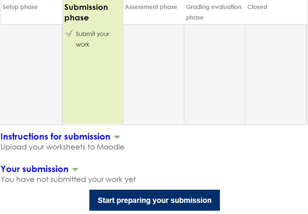 moodle screen shot