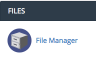 Screenshot of File manager under files